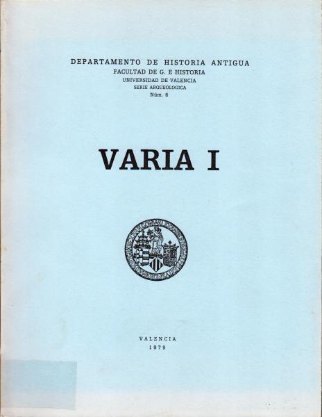 Serie Arqueológica 6 - Varia I