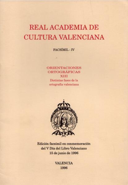 Orientaciones ortográficas XIII