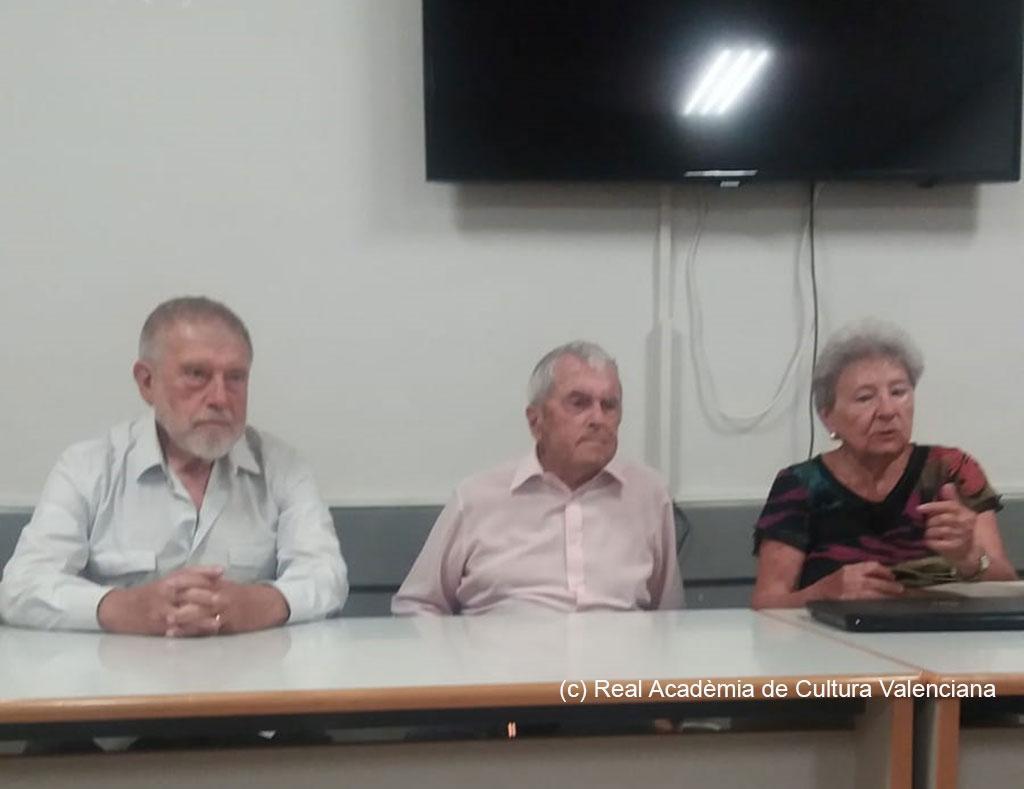 José Aparicio, Javier Cremades y Amparo Cabanes