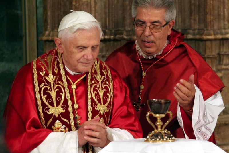 Jaime Sancho en el Papa