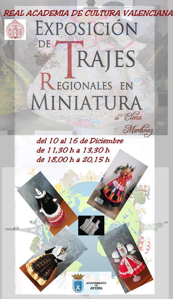 Exposición de trajes regionales en miniatura