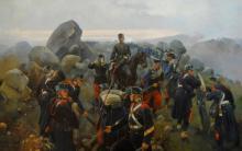 La toma del Collado de Alpuente. Cusachs (3ª Guerra Carlista). Museo Militar de Valencia.