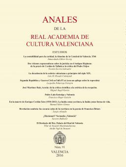 Anales de la Real Academia de Cultura Valenciana 91